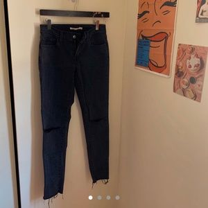 Levi's Washed Black Skinny Jeans Low Rise